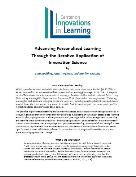 Advancing Personalized Learning