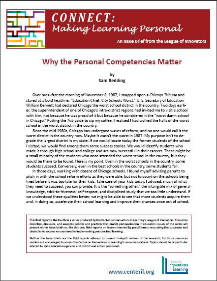 Why the Personal Competencies Matter