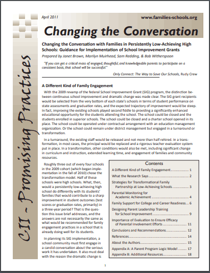Promising Practices: Changing the Conversation
