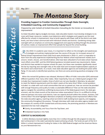Promising Practices: The Montana Story