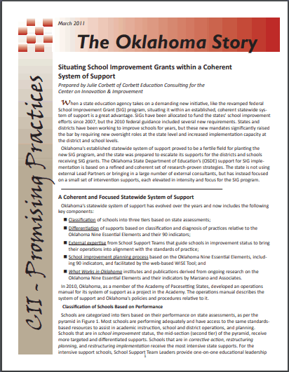Promising Practices: The Oklahoma Story