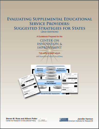 Evaluating Supplemental Educational Service Providers