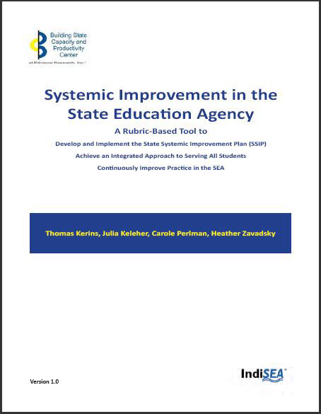 Systemic Improvement in the State Education Agency
