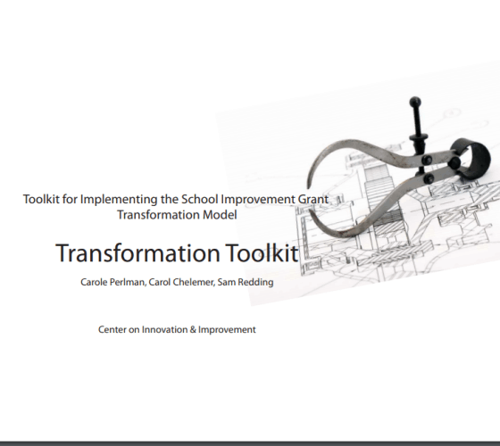 Toolkit for Implementing the School Improvement Grant